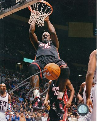 Shaquille O'Neal autographed Miami Heat 8x10 photo