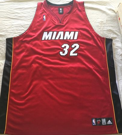 Shaquille O'Neal Miami Heat 2006 NBA Finals authentic Adidas stitched game model jersey
