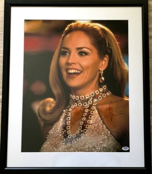 Sharon Stone autographed Casino 16x20 poster size movie photo matted and framed (PSA/DNA)