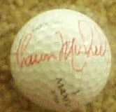 Shaun Micheel autographed golf ball