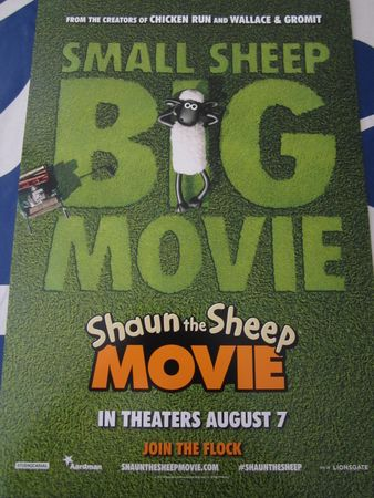 Shaun the Sheep set of 2 mini 2015 movie posters