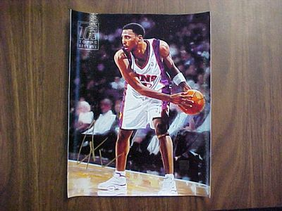 Shawn Marion certified autograph Phoenix Suns 8x10 Topps canvas artwork