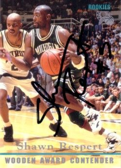 Shawn Respert autographed Michigan State Spartans 1995 Classic card