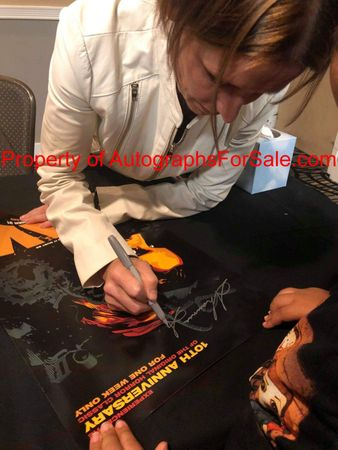 Shawnee Smith autographed SAW 2014 10th Anniversary 13x20 movie poster (orange)