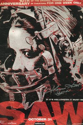 Shawnee Smith autographed SAW 2014 10th Anniversary 13x20 movie poster (red)