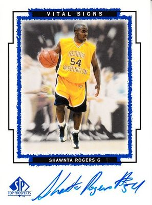 Shawnta Rogers certified autograph George Washington 1999 SP Top Prospects card