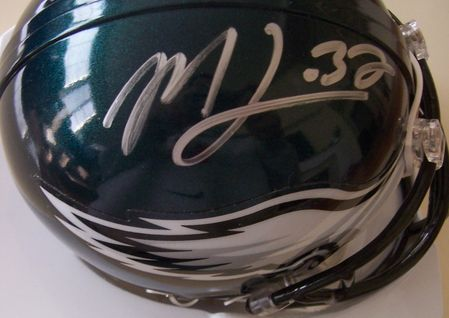 Sheldon Brown & Michael Lewis autographed Philadelphia Eagles mini helmet