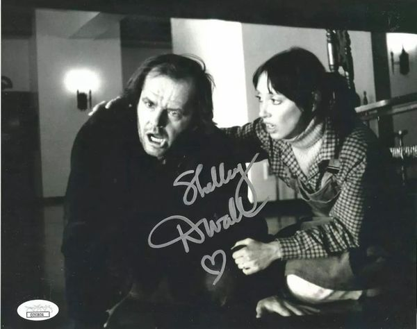 Shelley Duvall autographed The Shining 8x10 movie photo with Jack Nicholson (JSA)
