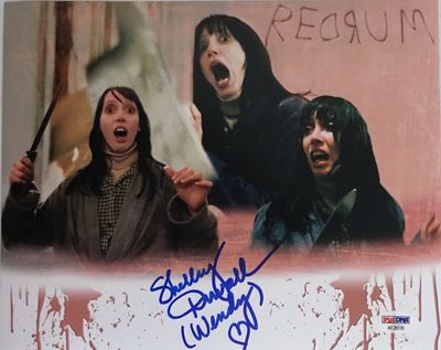 Shelley Duvall autographed The Shining 8x10 movie montage photo inscribed Wendy (PSA/DNA)