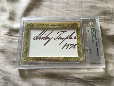 Shirley Temple 2018 Leaf Masterpiece Cut Signature certified autograph card 1/1 JSA