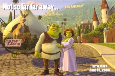 Shrek 2 movie 2004 promo postcard