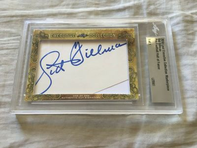 Sid Gillman 2018 Leaf Masterpiece Cut Signature certified autograph card 1/1 JSA Chargers