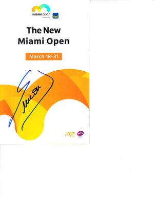 Simona Halep autographed 2019 Miami Open tennis tournament map and program