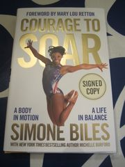 Simone Biles autographed Courage to Soar hardcover book
