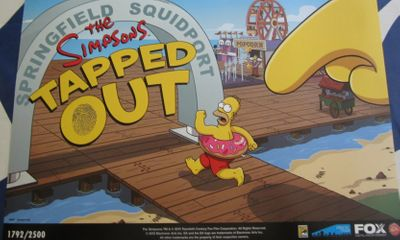 The Simpsons Tapped Out 2013 Comic-Con exclusive 11x17 promo poster