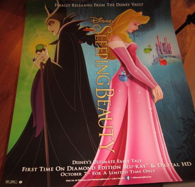 Sleeping Beauty movie 2014 Diamond Edition Disney Blu Ray and DVD 22x28 poster