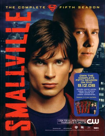 Supernatural and Smallville 2006 San Diego Comic-Con jumbo 8 1/2 by 11 inch promo card