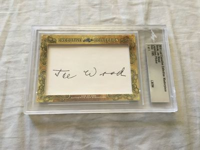 Smoky Joe Wood 2018 Leaf Masterpiece Cut Signature certified autograph card 1/1 JSA