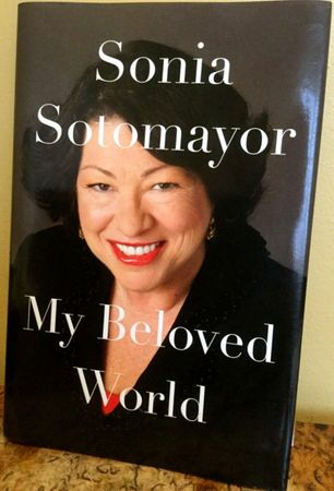 Sonia Sotomayor autographed My Beloved World hardcover first edition book