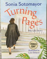 Sonia Sotomayor autographed Turning Pages hardcover children's book