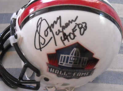 Sonny Jurgensen autographed Pro Football Hall of Fame authentic mini helmet inscribed HOF 83