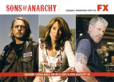 Sons of Anarchy 2009 Comic-Con Fox 5x7 promo photo card (Charlie Hunnam Ron Perlman Katey Sagal)