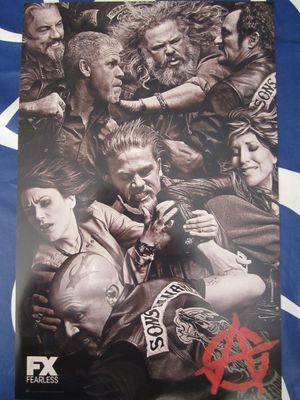 Sons of Anarchy 2014 San Diego Comic-Con 11x17 inch mini promo poster