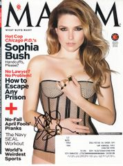 Sophia Bush autographed 2014 Maxim magazine cover (To AJ or Alex)