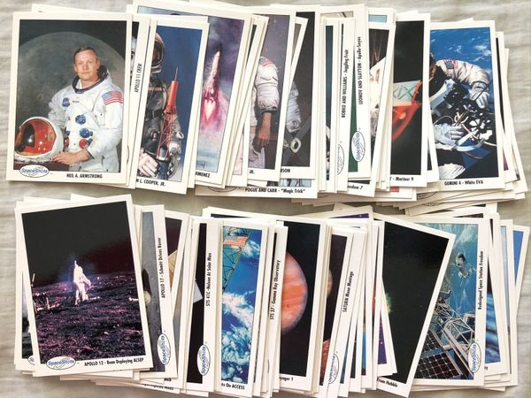 1991 Space Shots Series 2 complete set of 110 trading cards (Neil Armstrong Gordon Cooper)