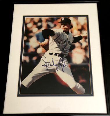 Sparky Lyle autographed New York Yankees 8x10 photo matted and framed