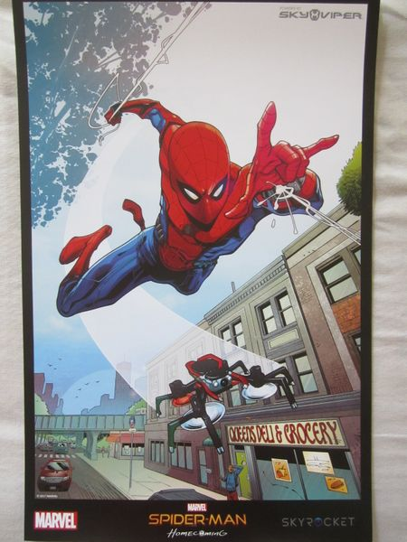 Spider-Man Homecoming movie artwork 2017 Comic-Con mini 11x17 Sky Viper promotional poster