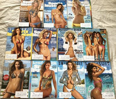 Sports Illustrated Swimsuit Issue complete 2008 through 2018 set of 11 magazines (2008 through 2018)