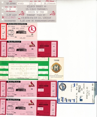 St. Louis Cardinals lot of 7 vintage tickets (Mark McGwire)
