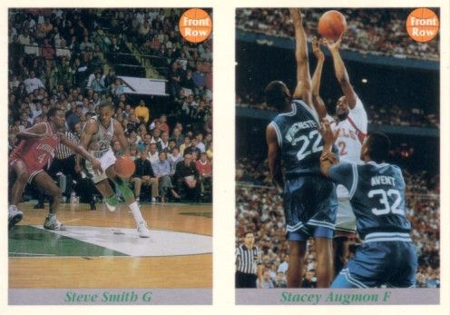 Stacey Augmon and Steve Smith 1992 Front Row promo card panel (1 of 25000)