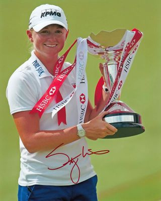 Stacy Lewis autographed 2013 LPGA HSBC Women's Champions 8x10 photo