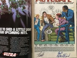 Stan Lee and Peter David autographed Web of Spider-Man comic book issue #43