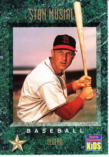 Stan Musial St. Louis Cardinals 1994 Sports Illustrated for Kids card