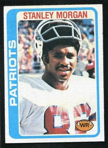 Stanley Morgan New England Patriots 1978 Topps Rookie Card #361 ExMt to NrMt