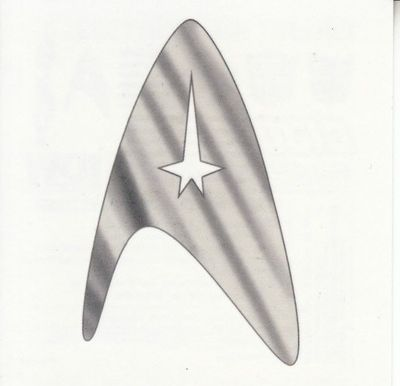 Star Trek emblem 2012 IDW temporary tattoo