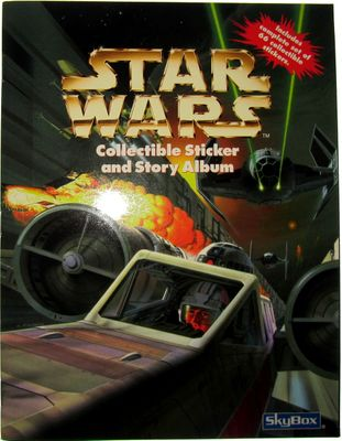 Star Wars 1996 SkyBox Collectible Sticker and Story Album (with 66 stickers)