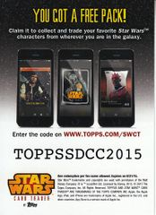 Star Wars Card Trader 2015 San Diego Comic-Con exclusive Topps promo card
