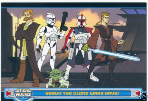 Star Wars Clone Wars 2004 Topps promo card P1