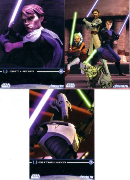 Star Wars Clone Wars 2009 San Diego Comic-Con Official Pix promo card set (3 different)