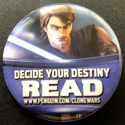 Star Wars The Clone Wars 2011 Comic-Con promo button or pin (Anakin Skywalker)