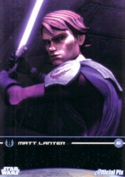 Star Wars Clone Wars Matt Lanter (Anakin) 2009 San Diego Comic-Con Official Pix promo card
