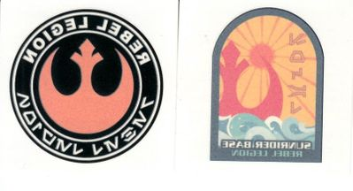Star Wars Rebel Legion set of 2 temporary tattoos