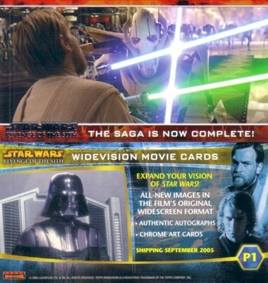Star Wars Revenge of the Sith 2005 Topps Widevision promo card P1