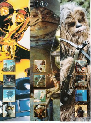 Star Wars set of 3 2015 Comic-Con bookmarks (C-3PO Chewbacca Jabba the Hut)