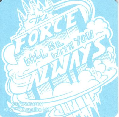 Star Wars The Force Will Be With You Always 2014 Comic-Con promo coaster