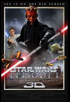 Star Wars Episode I The Phantom Menace 3D original 2012 mini movie poster